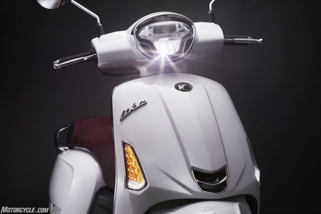 2018 Kymco Like 150i ABS leg shield and headlight