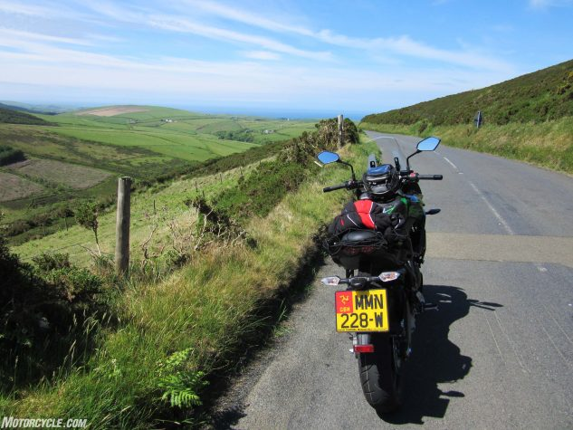 It's easy to go off the grid on the Isle of Man with an excellent all-rounder like the Kawasaki Versys.
