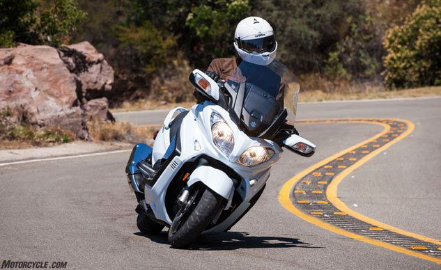 Scooters comes in many sizes, including the motorcycle-like Suzuki Burgman 650. Photo: Suzuki.