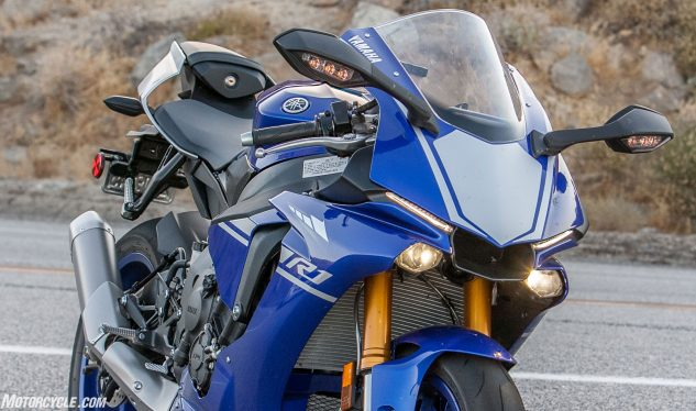 When it comes to appearances there's no arguing the Yamaha is in a class of its own, but avant garde styling can be polarizing. Some of our testers love the look of the R1, while others are less enamored.