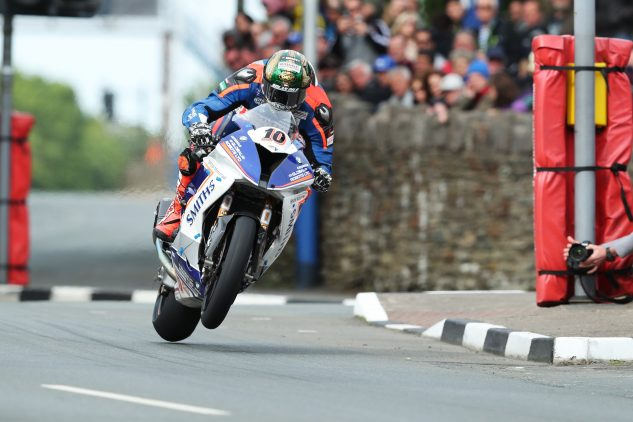 Peter Hickman flying at Union Mills, Senior TT Photo by: IOMTT.com