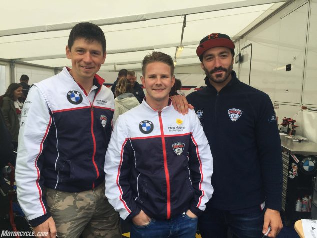 Dan Kneen, Danny Webb and Alex Polita, the Penz13.com BMW TT team.