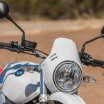 2018 BMW R nineT Urban G/S Review headlight and bars
