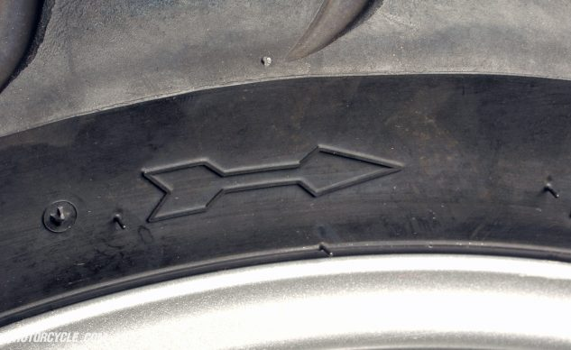 Make sure the rotational direction of the tire is correct. Otherwise, Bad Things could happen.