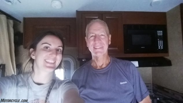 Not long after meeting Jim I was sleeping in his RV. Being a girl has its advantages.