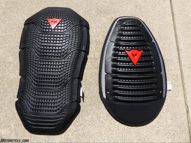 Dainese Super Speed Textile Jacket Manis G2 and Wave G2 back protectors