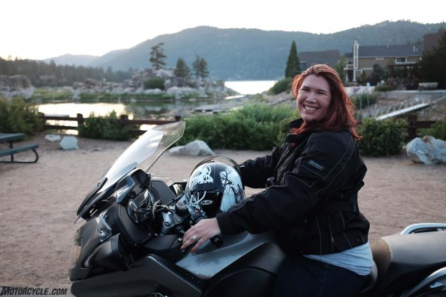 Shelly's radiance says everything about how much she loves her BMW.