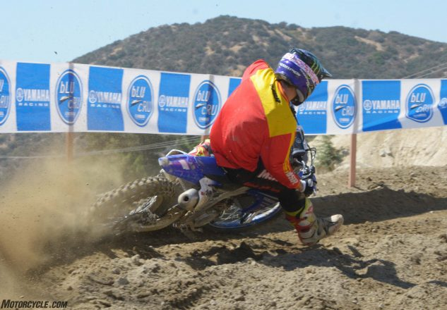 While the 2018 Yamaha YZ450F may handle similarly to the 2017 model, its ergonomics are much improved. The bike has a slimmer feel, which makes it easier to move around on in corners.