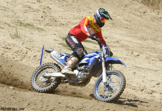 Even with its massive 270mm front rotor, the YZ450F doesn't have the most powerful brakes in the class.