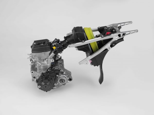 The downdraft intake system found on the CRF250R is just like that of the CRF450R.