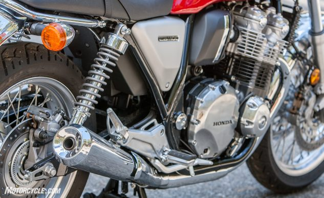 The airbox and intake are modified, along with the shorter narrower mufflers, for a smidge more low-rpm grunt, five more horses, and a little more growl.