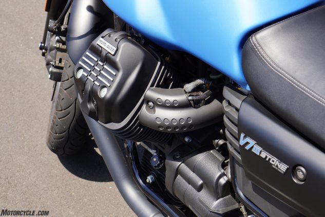Guzzi does a pretty nice job concealing unsightly wires and things out of sight.