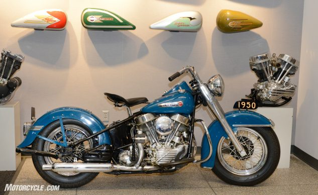 The 1950 FL that inspired much of the new Softail's design.