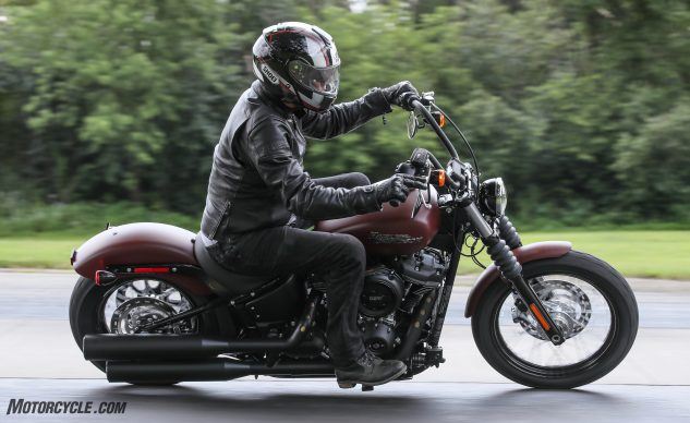 Even though it lost its dual shocks and became a Softail, the Street Bob is still the Street Bob – only moreso.