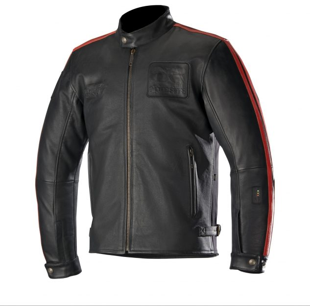 The Charlie Leather Jacket from Alpinestars more heritage, fashion focused Oscar line, incorporates the Tech Air technology into a more casual jacket for street use.
