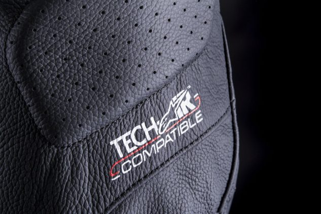 All Tech Air compatible garments will have a designation of some sort on the outside as well as the LED interface on the left sleeve and port for connection on the inside of the garment.