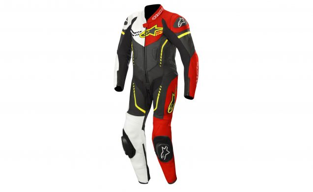The kids get the color shown above and a mostly black and white option for the Youth GP Plus Leather Suit ($699.95). Three sizes available, 130-140-150cm.