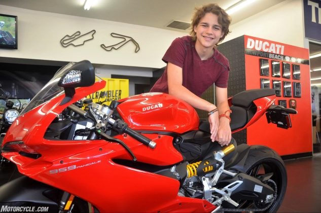 The 959 Panigale is Luke's carrot as he makes his way into the world of motorcycling. Follow along with us as he makes his journey.