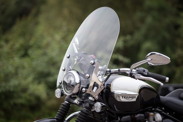 accessories  triumph bonneville speedmaster touring screen motorcyclecom
