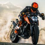 2019 KTM 790 Duke burnout