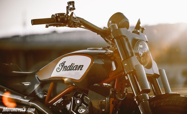 Indian FTR1200 Custom tank and headlight