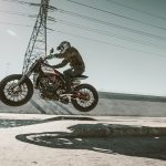 Indian Scout FTR1200 Custom catching air