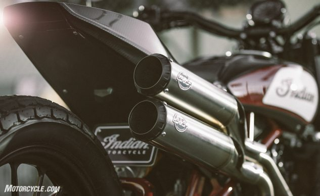 Indian FTR1200 Custom exhaust