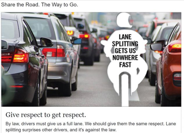 Lane Splitting in Oregon
