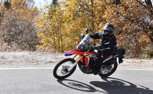 The Honda CRF250L Rally easily took the top step of the podium from all of our test riders in the cool factor and grin factor portions of the scorecard. Our subjective scores were backed up at nearly every gas or food stop over our two days spent on these bikes by passerby's stares and questions about the Honda. It's a looker for sure. With it's radical styling based on Honda's HRC rally bikes, the CRF250L looks almost every bit the part of a Dakar-trouncing off-road motorcycle. 2017 Honda CRF250L Rally Review – First Ride