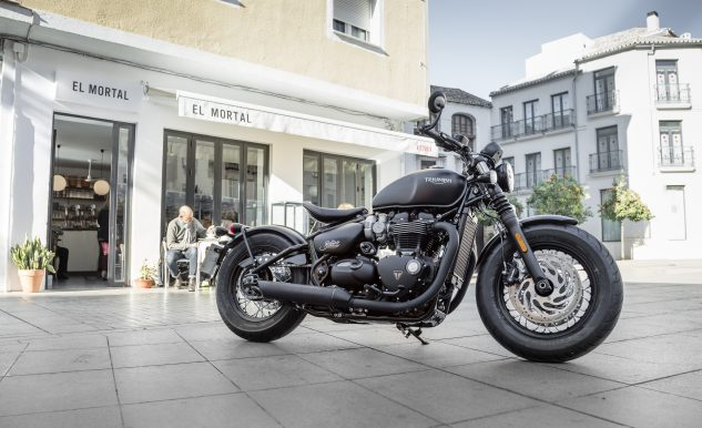 2017 Triumph Bonnerville Bobber Press Launch – Málaga Worldwid