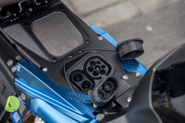 2018 Energica Eva EsseEsse9 charging port