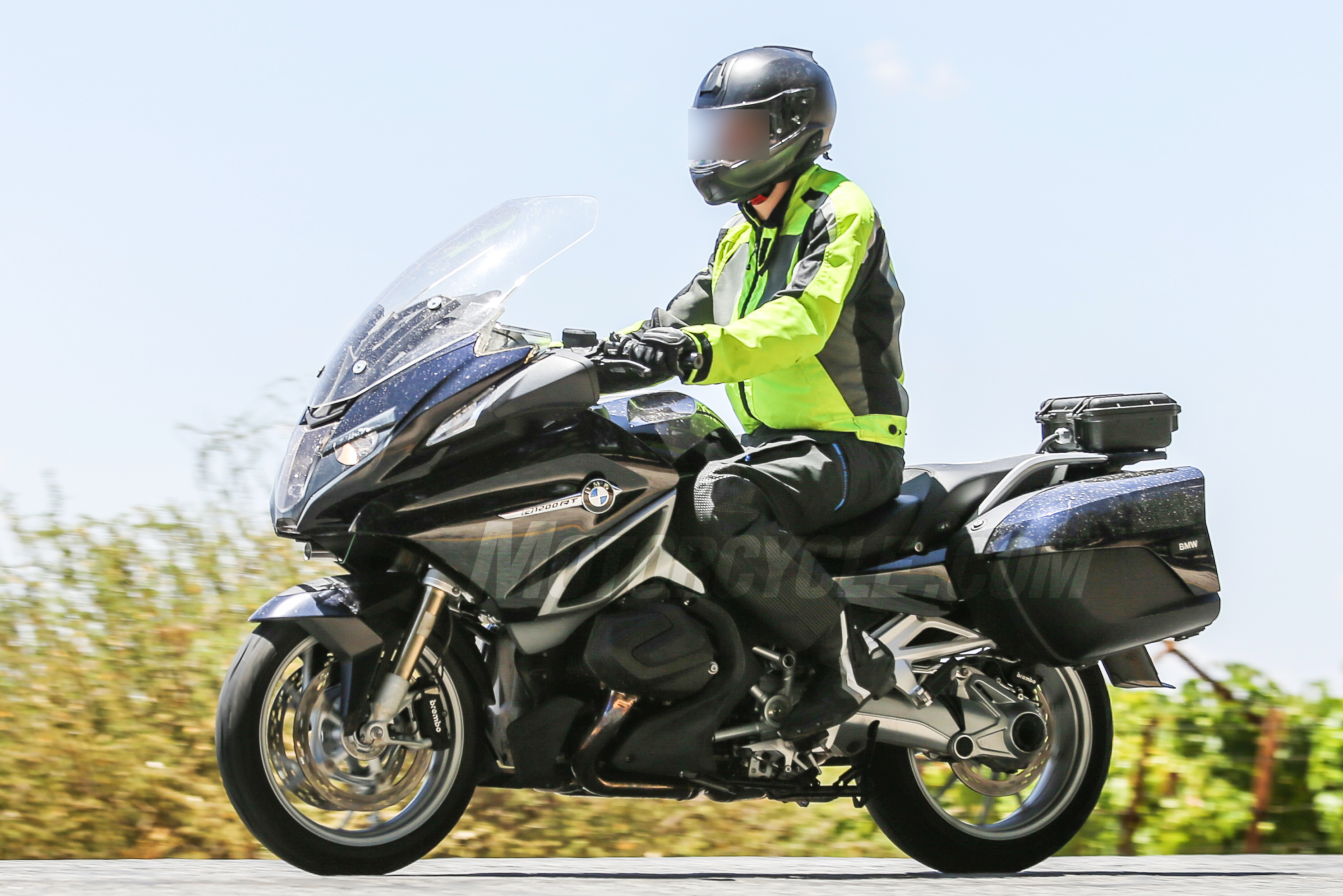 Bmw R1200rt With New Boxer Engine Spied