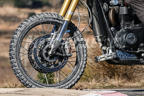 031518-spy-photos-2018-Triumph Scrambler 1200 004-front-wheel-crop