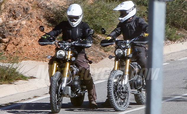 2019 Triumph Scrambler 1200 Spy Photos Motorcyclecom