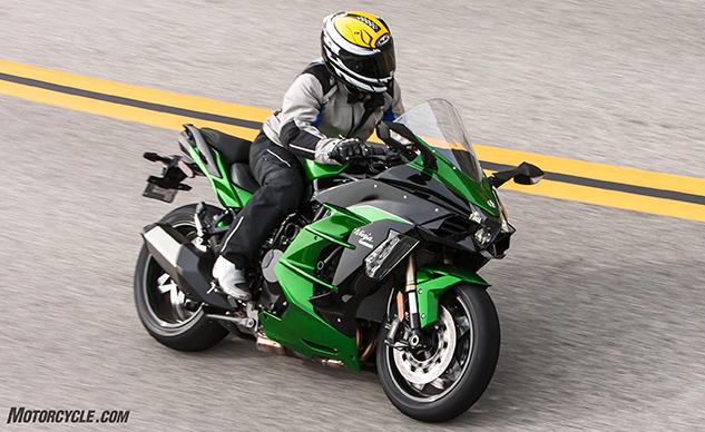 2018 Kawasaki H2 Sx Se Review Motorcyclecom First Ride