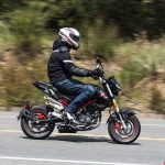2018 Benelli TnT135 action right