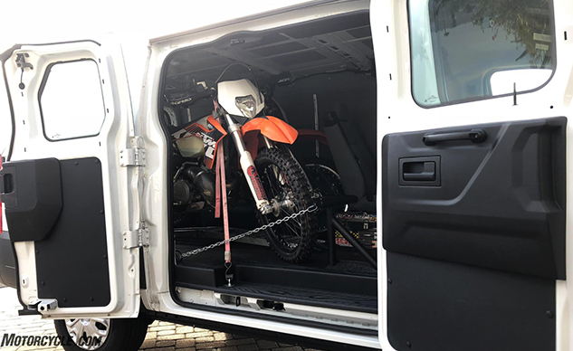 convert  ford transit connect   motorcycle hauler