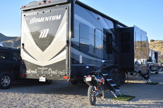 Moto-Camping rigs at Babes in the Dirt