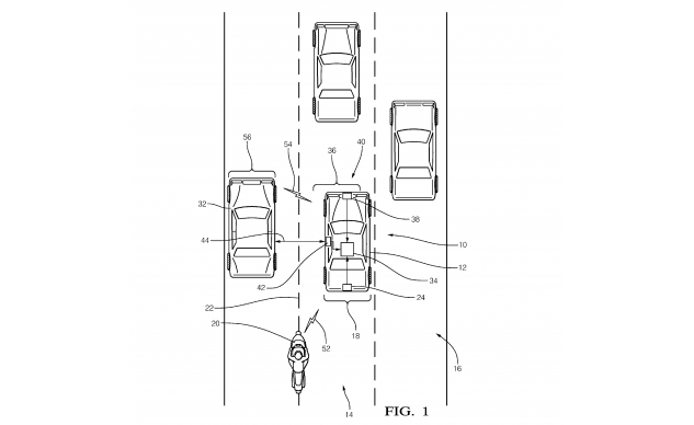 060518-delphi-automated-lane-position-lane-splitting-patent-US20160306357-2
