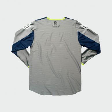 3HS192340X RAILED JERSEY GREY BACK