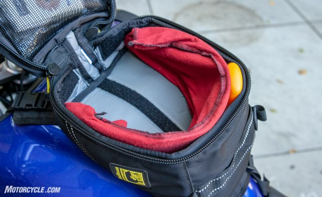 Wolfman Blackhawk Tank Bag interior