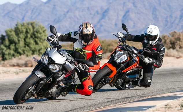 2019 KTM 790 Duke vs  Triumph Street Triple R: A Disruption