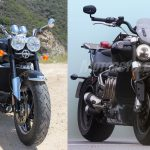 old 2010 triumph rocket iii roadster vs new 2020 Triumph Rocket III Spy Photos