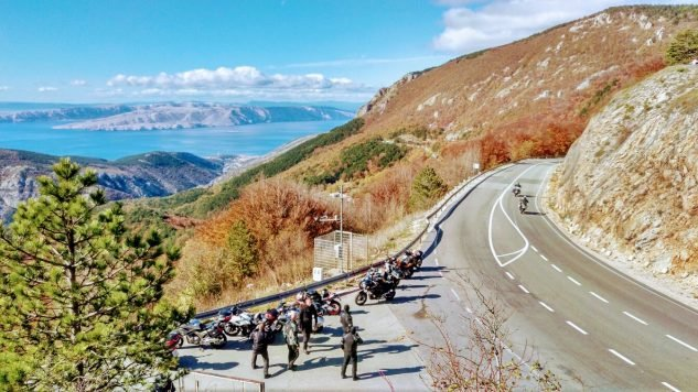 A Moto Tours Croatia rest stop near SENJ. Croatia's roads are world-class: extensive, scenic, and well maintained.