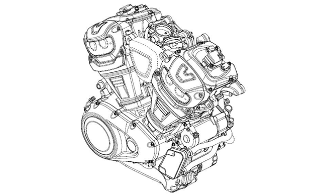 harley-davidson u2019s new middleweight engine detailed in design filings