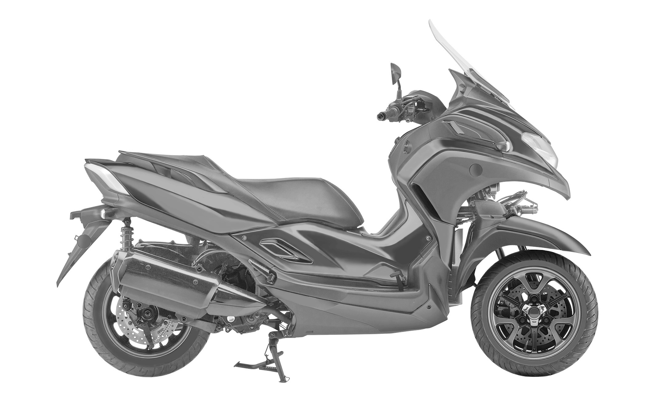 Design Filings Reveal Production Version of Yamaha 3CT Scooter