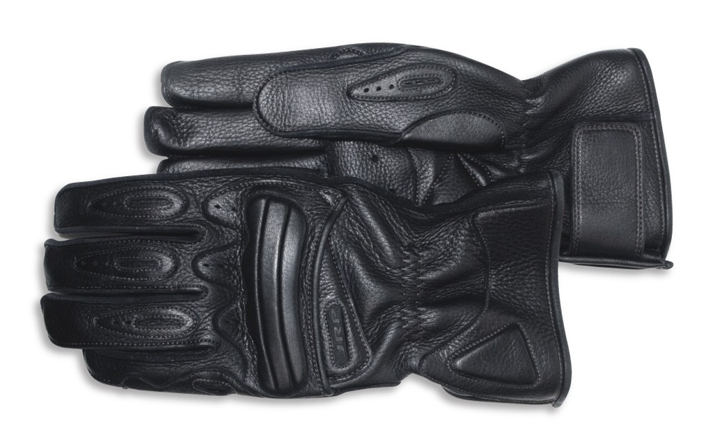 Tourmaster Black Mens 3XL Select Fingerless Leather Motorcycle Gloves XXXL