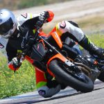 2019 KTM 790 Duke track action shot