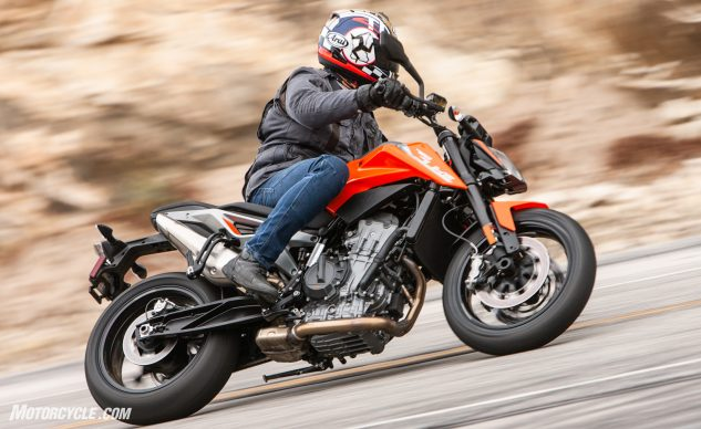 2019 KTM 790 Duke action shot