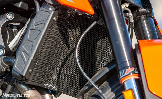 2019 KTM 790 Duke Evotech radiator cover